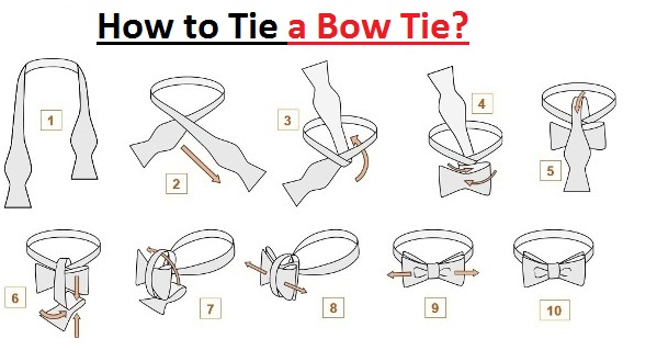 how to tie a bow tie rh lethow com Necktie Tying Illustration Tying a Tie