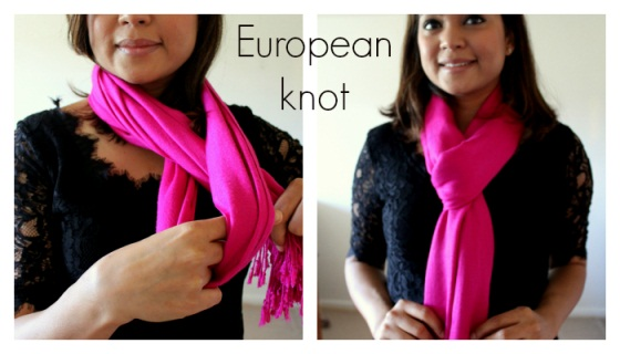 How to wear a scarf( europeon style )