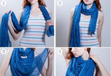 how to wear a scarf ( waterfall style)