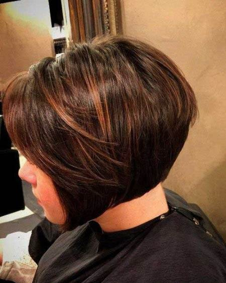 Stacked bob haircut for black women