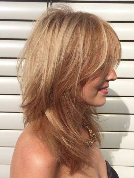 Effortless tousled medium layered haircuts