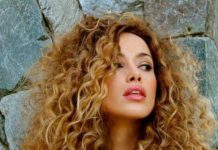 Long golden curls haircuts for curly hair
