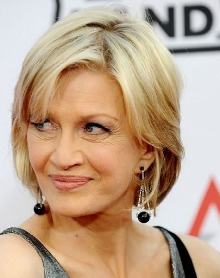 blonde bob with bangs short hairstyles for women over 50