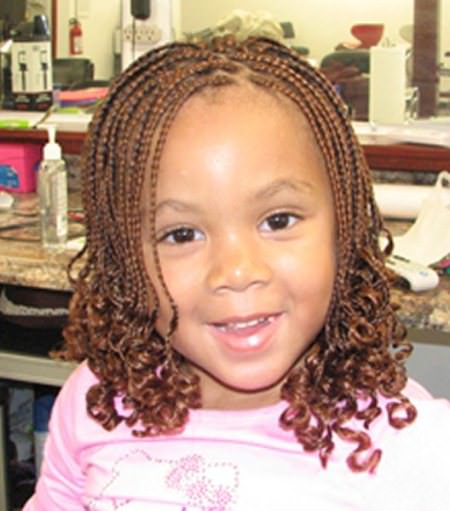 braided hair with curly ends black girl hairstyles