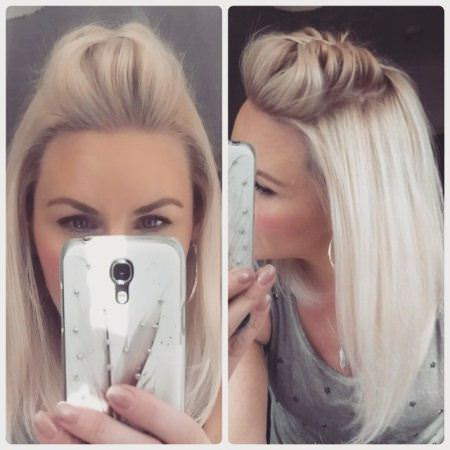 braided pompadour mid-length hairstyles
