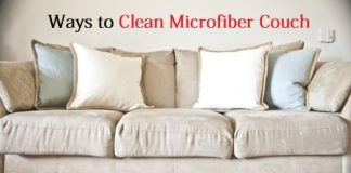 clean microfiber couch