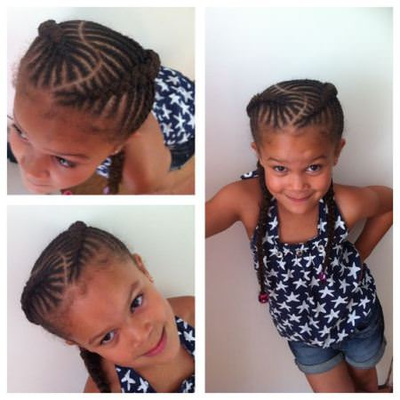fishbone cornrows and braids black girl hairstyles