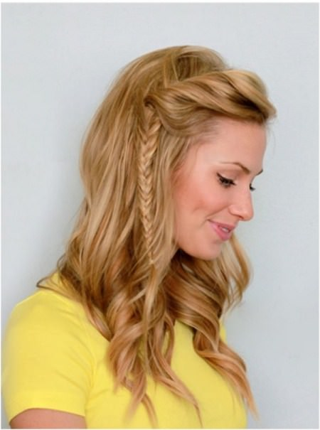 fishtail braid with a twist mid length hairstyles