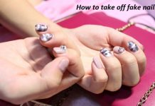 get acrylic nails off