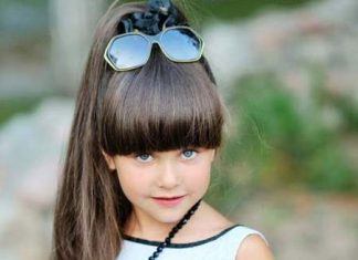 high ponytail hairstyles for little girl