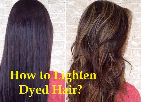 How To Lighten Dyed Hair