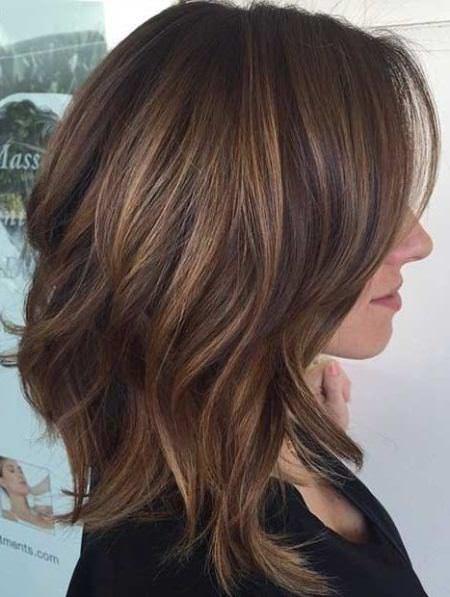 medium coffee colored waves medium layered haircuts