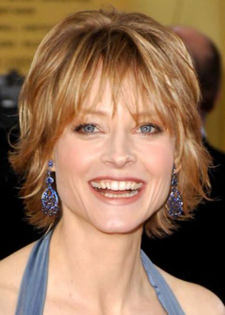 medium layered short hairstyles for women over 50