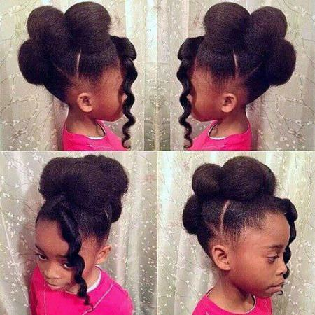 puff hawk black girl hairstyles