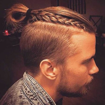 semi braided long hairstyles for men