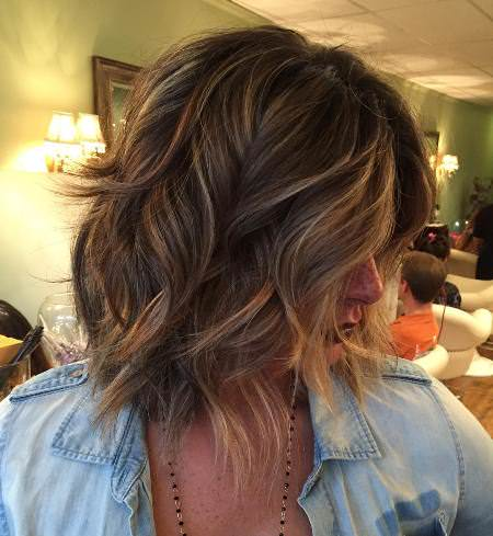 shaggy bob haircuts with defined waves