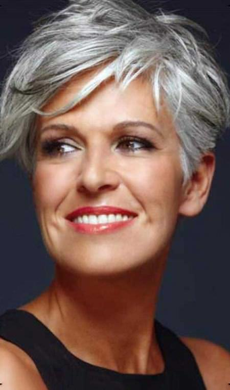 short crop with side bangs short hairstyles for women over 50