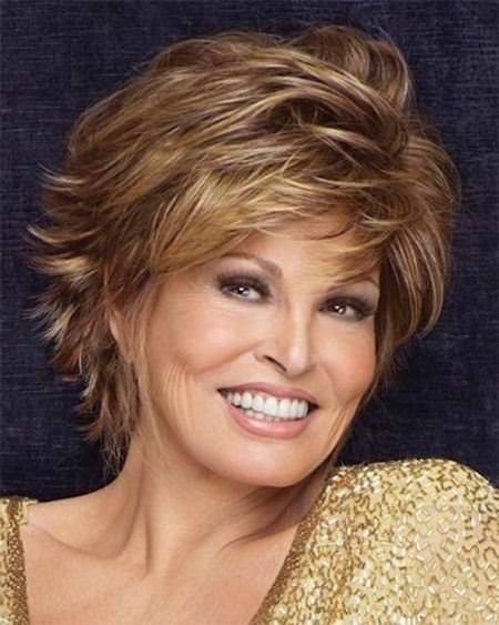 tousled waves with flicks short hairstyles for women over 50