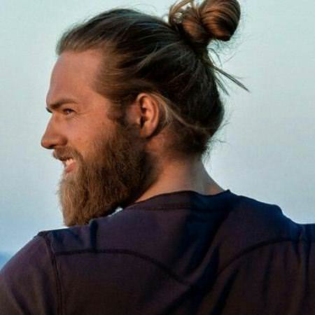 twisted bun long hairstyles for men