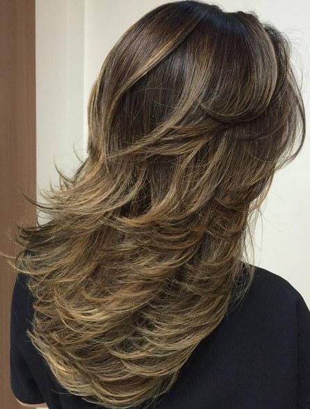 wind swept layer medium layered haircuts