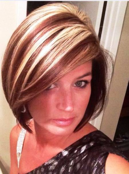 A subtle take on chunky highlights best short hair with highlights