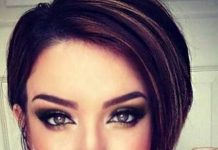 Chic asymmetrical short haircuts for women