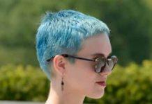 Sky blue pixie colorful pixie cuts