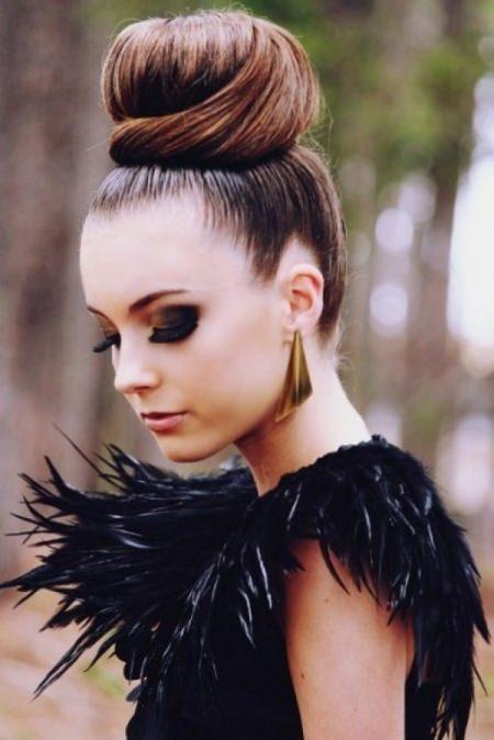 ballerina bun Updos for long hair