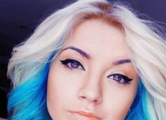 blue short ombre hair ideas for cropped locks