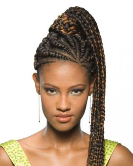 Fancy French Braids for Black Women