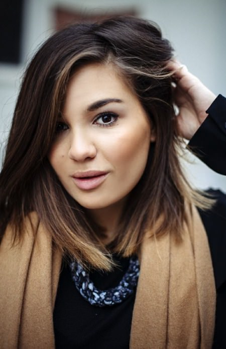 chocolate ombre winter hair colors