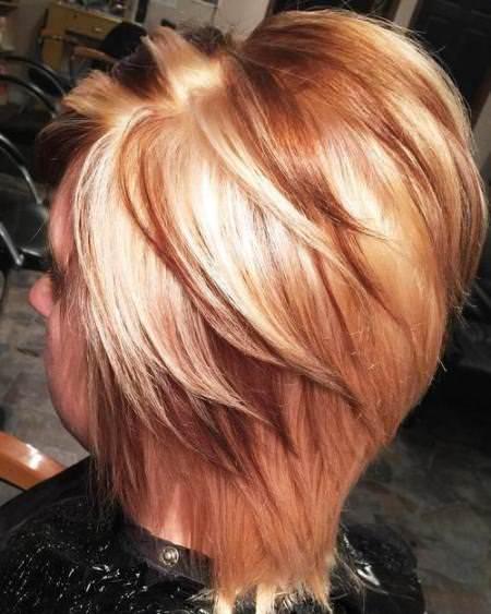 chocolate vanilla swirl best short hair with highlights