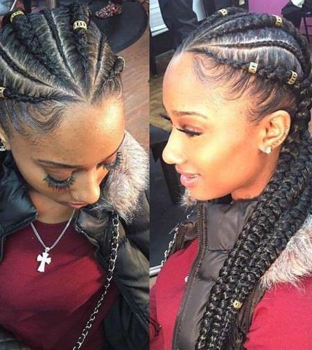Fancy French Braids for Black Women