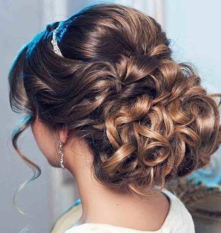 curled updos for long hair