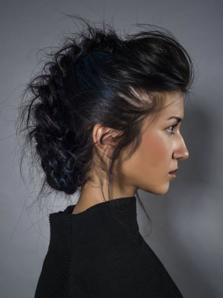 curly braided mohawk updos for long hair
