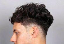 curly taper fade cuts for men