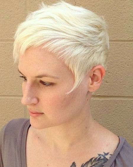 edgy blonde pixie haircuts with bangs