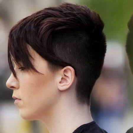 feathered pixie with shaved sides short hairstyles for fine hair