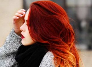 fiery red ombre hair