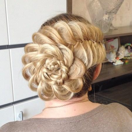 fishtail florette updos for long hair