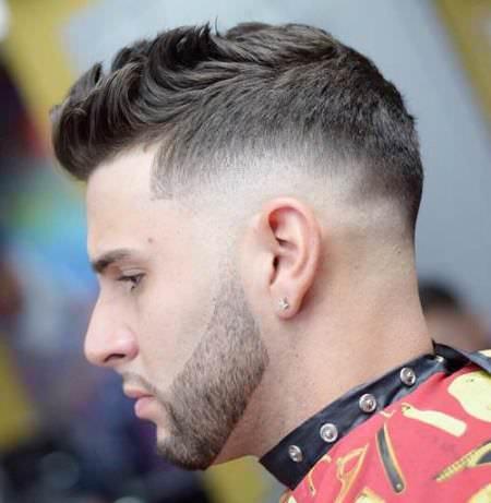 flipped taper fade cuts for men