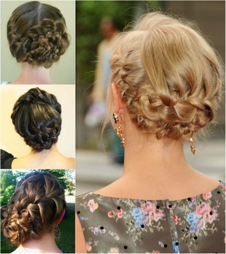 french braid Updos for long hair