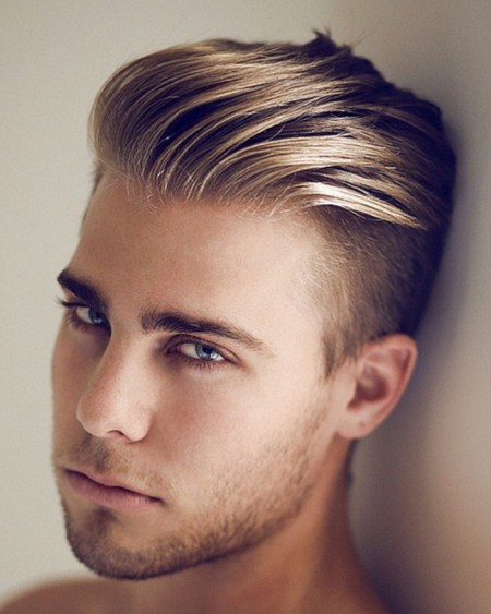 front combed taper fade cuts for men