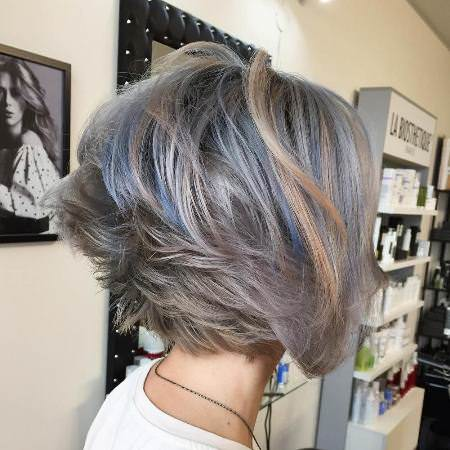 graduated ashy bob short hairstyles for women