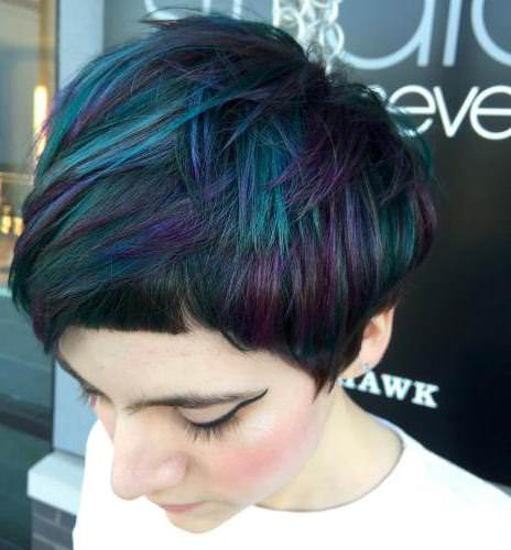 highlighted and low lighted with edges best short hair with highlights