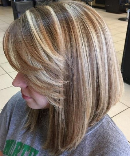 Different Long Bob with Bangs