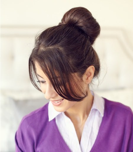 inside out ponytail updos for long hair