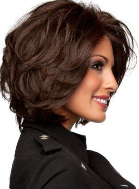 layered bob for thick hair short hairstyles for women