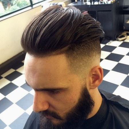 long and straight taper fade cuts for men