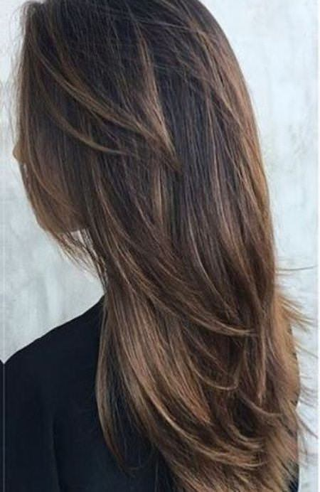 20 long layered haircut with bangs